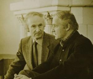 Algimantas ir Vytautas Nasvyciai. 1988 m. A. Nasvycio asm. albumo nuotrauka