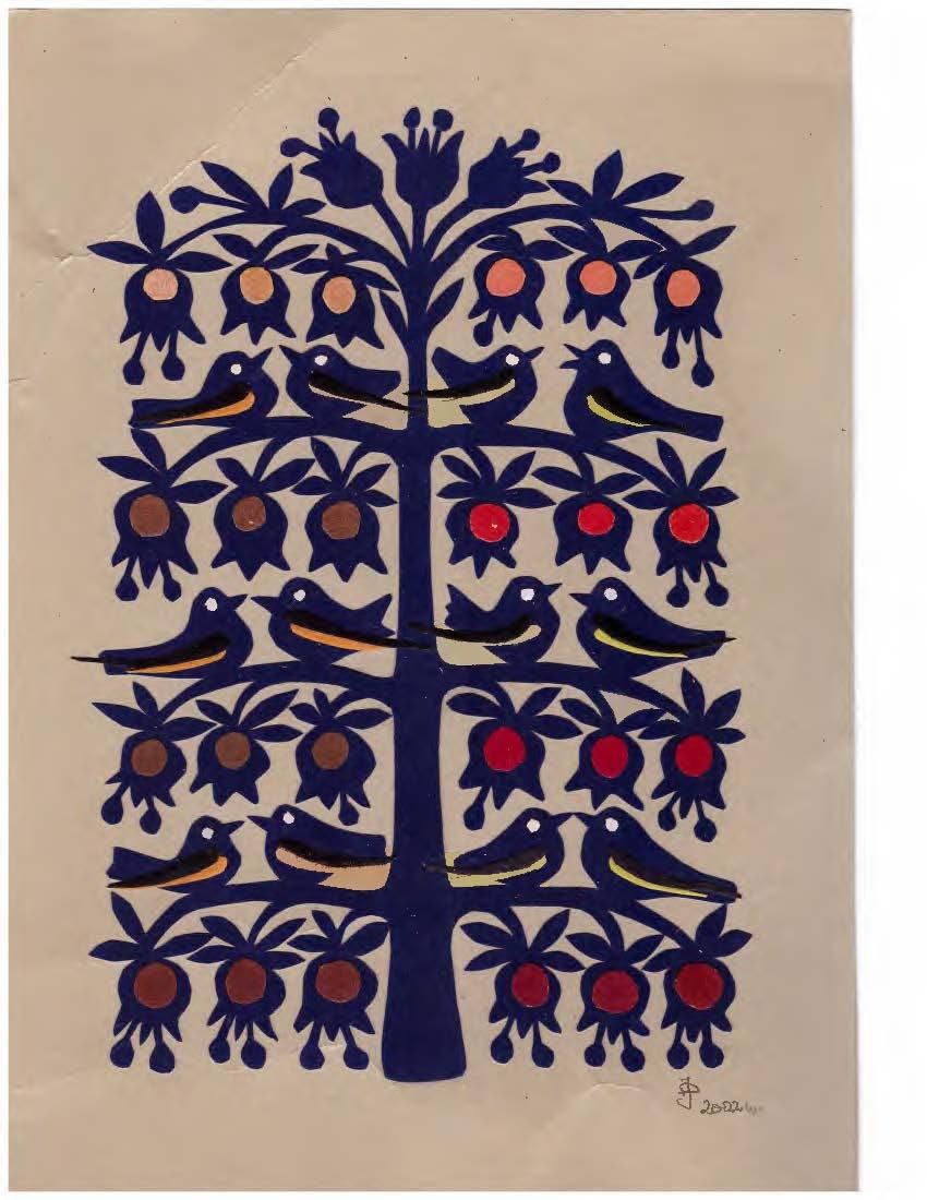 Pasaulio medis | J. Daniliauskien4s spalvoto popieriaus karpinys.
