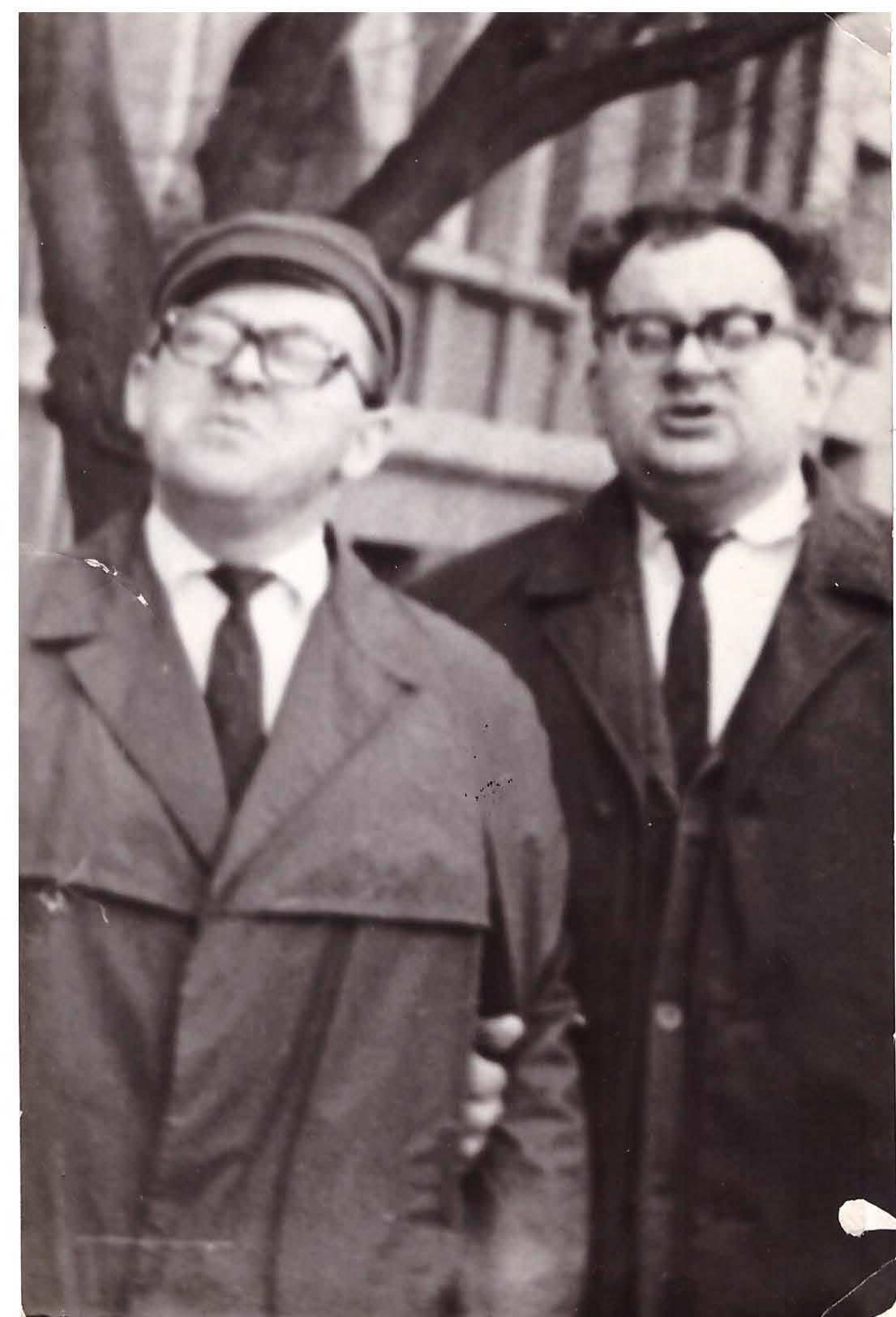 Dėstytojai. Sigitas krivickas (iš kairės) ir Viktoras Žeimantas   Nuotr. iš asmeninio archyvo