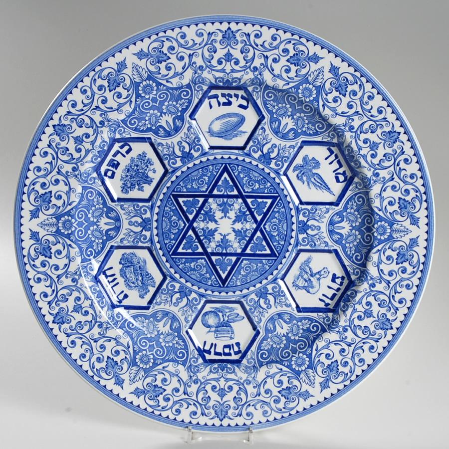 Retas ir vertingas mėlynasis porcelianas judaizmo temmatika|Autorės notr.