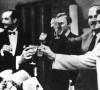 """SSRS ir Vokietijos nepuolimo sutarties (vadinamojo Ribentropo–Molotovo pakto) pasirašymas. Pirmas iš kairės J. Ribentropas, dešinėje J. Stalinas ir V. Molotovas. Kremlius, 1939 m. rugpjūčio 23 d.   leidyklos """"Briedis"""" nuotr."""