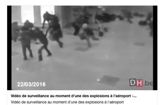 Briuselio naujienų portalo Dernière Heure 2016 kovo 22 teroro akto Briuselio oro uoste vaizdo įrašo nuotr.