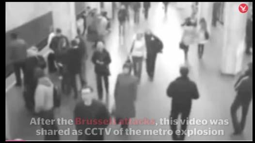 """Briuselio naujienų portalo Dernière Heure 2016 kovo 22 teroro akto Briuselio """"Maelbeek"""" metro stotyje vaizdo įrašo nuotr."""