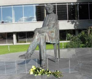 Juozo Miltinio paminklas Panevėžyje | Alkas.lt nuotr.