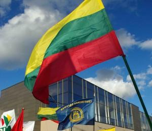Tautininkų vėliava ir trispalvė | Alkas.lt, J. Vaiškūno nuotr.