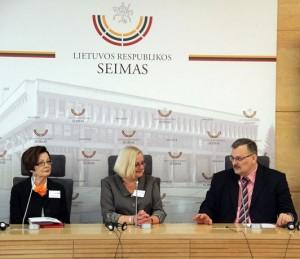D. Mikulėnienė, J. Zabarskaitė, Seimo narys K. Daukšys |Darbo partijos informacijos centro nuotr.