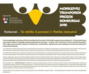 Moksleiviu prozos konkursas.plakatas 2016