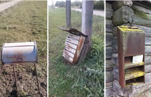 Netinkamos naudoti laiškų dėžutės | Lietuvos pašto nuotr.