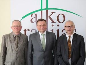 Audrys Antanaitis, Vydas Gedvilas ir Juozas Zykus | alkas.lt nuotr.