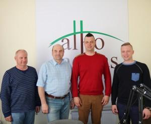Justinas  Lingys, Gerimantas Statinis, Kęstutis  Dapkevičius ir Marius Balandis | alkas.lt nuotr.