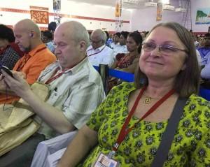 Gintaras Songaila ir Inija Trinkūnienė konferencijoje Indijoje | Alkas.lt, R. Balkutės nuotr.