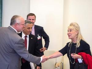 J. Olekas su NATO Parlamentinės Asamblėjos pakomitečio nariais aptarė saugumo iššūkius | kam.lt, A. Pliadžio nuotr.