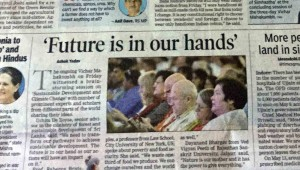 Indijos spauda apie konferenciją | Alkas.lt, R. Balkutės nuotr.