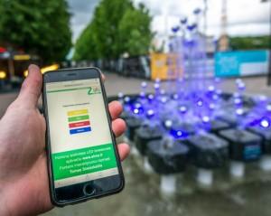 Laisvės alėjos fontaną galima valdyti internetu | Kaunas.lt nuotr.