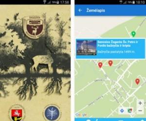 Žagarės regioninio parko mobilioji programėlė | Alkas.lt nuotr.