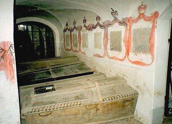 Radvilų mauzoliejaus Nesvyžiaus bažnyčios rūsiuose | KPD nuotr.