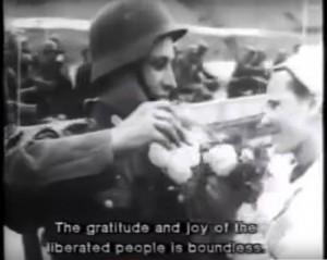 """Filmo """"Hitlerinis altruizmas: Lietuvos išvadavimas"""" stopkadras"""