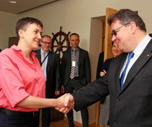 Lietuvos užsienio reikalų ministras susitiko su Ukrainos didvyre N. Savčenko | flickr.com, URM nuotr.