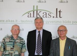 Audrys Antanaitis, Gitanas Nausėda ir Juozas Zykus   Alkas.lt,  A.Rasakevičiaus nuotr.