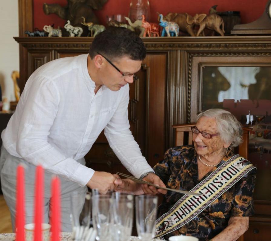Šimtametė Antanina Gilienė   krs.lt nuotr.