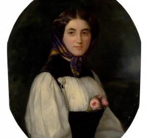 Philipp Arons.1821-1902. Marijos Radvilaites-Tiskevicienes portretas.Ciurlionio dailes muziejus. A. Lukseno foto
