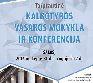 Plakatas_kalbotyros konferencijai Salose