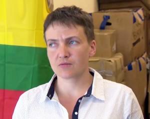 Į Lietuvą atvyko Ukrainos didvyrė Nadija Savčenko | Alkas.lt nuotr.