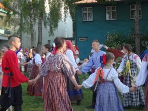 """Palangoje surengta XVI tarptautinė vasaros folkloro stovykla """"Tradicija""""   rengėjų nuotr."""