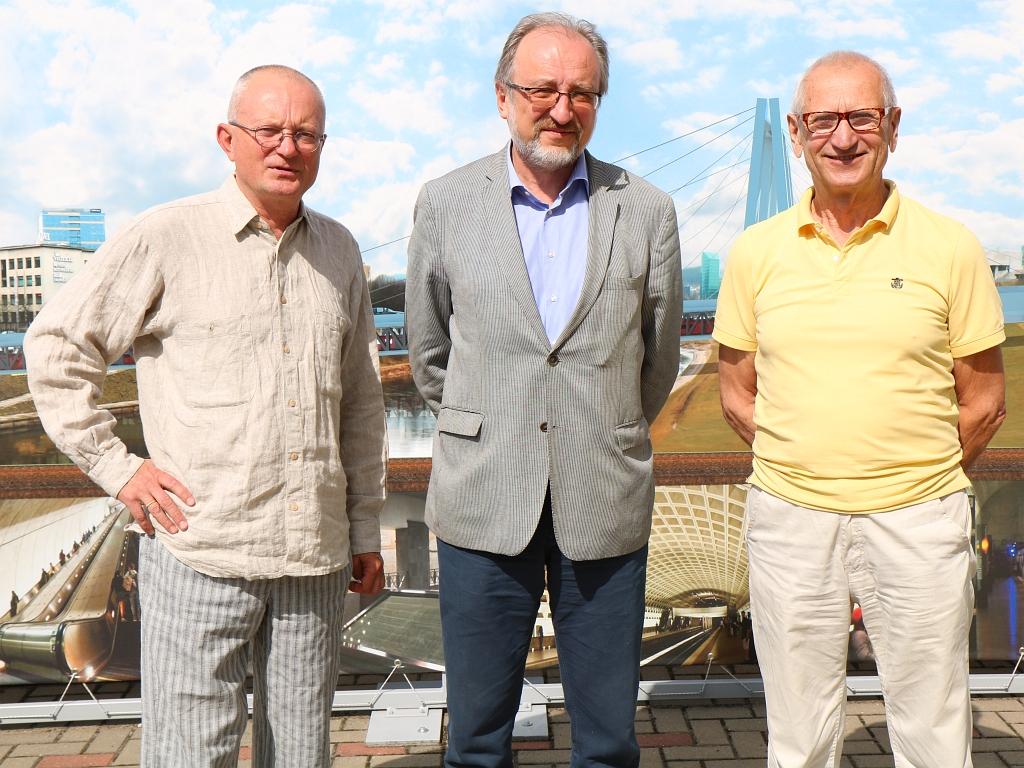 Audrys Antanaitis, Artūras Blotnys ir Juozas Zykus   A. Sartanavičius nuotr.