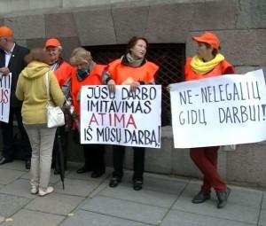 Gidų protesto akcija | Alkas.lt, A. Sartanavičiaus nuotr.
