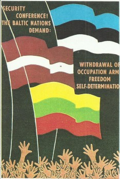 J. Ereto rūpesčiu 1973 m. išleistas ir išplatintas atvirukas su užrašu: SERCURITY CONFERENCE! THE BALTIC NACIONS DEMAND: WITHDRAWAL OF OCCUPATION ARM FREEDOM SELF-DETERMINATION (Saugumo konferencija! Baltijos tautos reikalauja: išvesti okupacinę kariuomenę, laisvei apsispręsti) | A. Zolubo archyvinė nuotr.