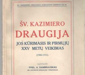 Knyga Sv. Kazimiero draugija_zmoniuknygos.lt