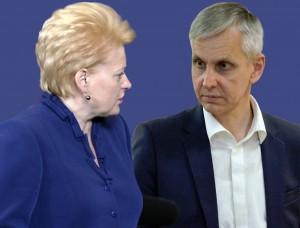 Dalia Grybauskaitė ir Povilas Urbšys | Alkas.lt koliažas
