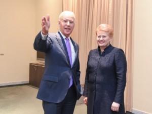 Džozefas Baidenas ir Dalia Grybauskaitė | lrp.lt nuotr.