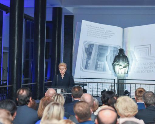 Sveikina Lietuvos Respublikos Prezidentė Dalia Grybauskaitė | lrp.lt R. Dačkaus nuotr.