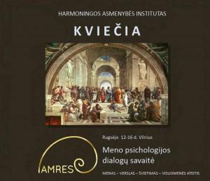 Harmoningos asmenybės institutas kviečia į pokalbius apie meno poveikį žmogui   rengėjų nuotr.