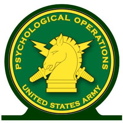 Amerikiečių psichologinių operacijų dalinio karių emblema | technologijos.lt nuotr.