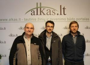 Gerimantas Statinis, Deividas Urbonavičius ir Vytautas Bartulis | Alkas.lt nuotr.