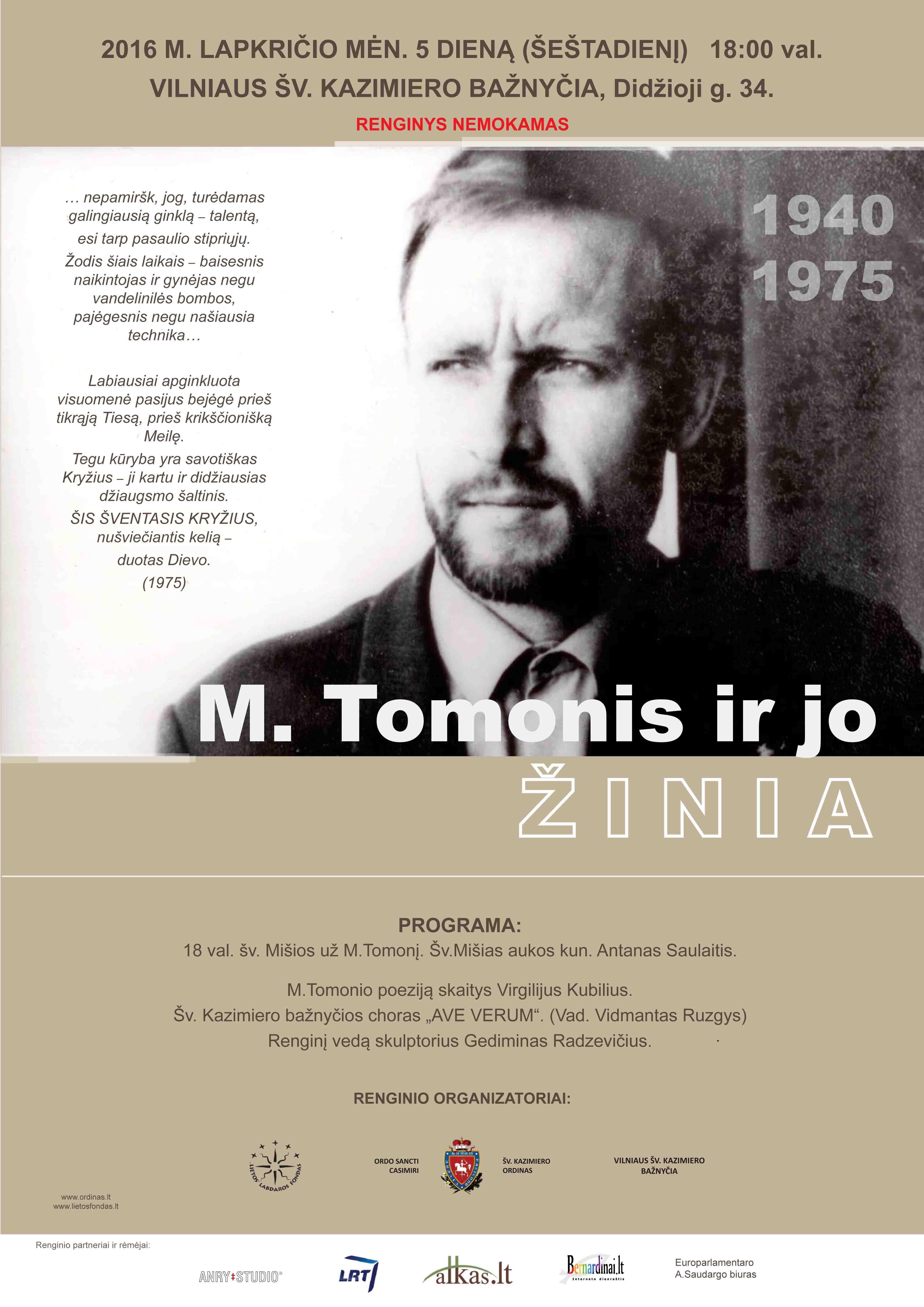 2016.11.05 M.TOMONIS VILNIUS