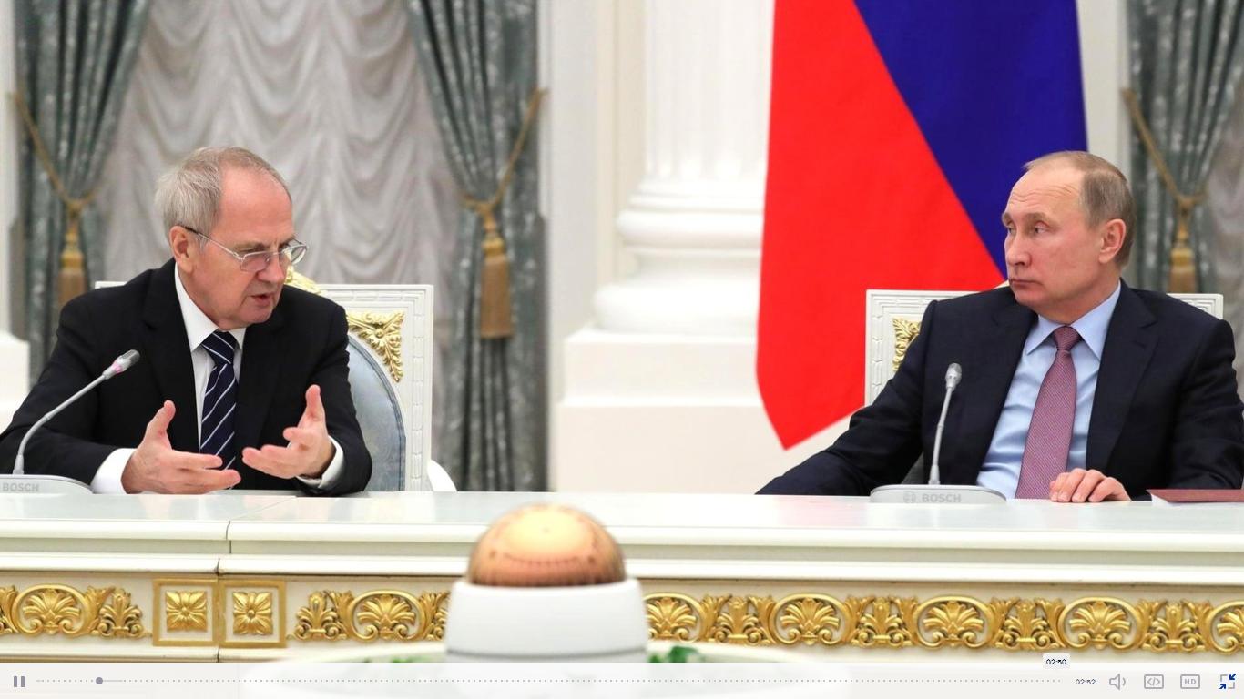 V. Zorkinas ir V. Putinas | kremlin.ru nuotr.