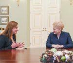 Mildą Vainiutė ir Dalia Grybauskaitė   lrp.lt, R. Dačkaus nuotr.