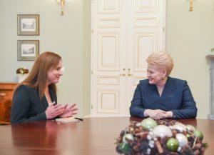 Mildą Vainiutė ir Dalia Grybauskaitė | lrp.lt, R. Dačkaus nuotr.