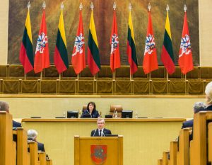 Seime paminėtos Prezidento Kazio Griniaus 150-osios gimimo metinės | lrp.lt, O. Posaškovos nuotr.