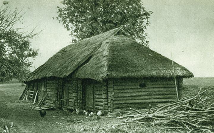 Keturšlaitis tvartas. Dzūkija. XX a. Lietuvių liaudies menas. Architektūra I knyga. 535 iliustracija