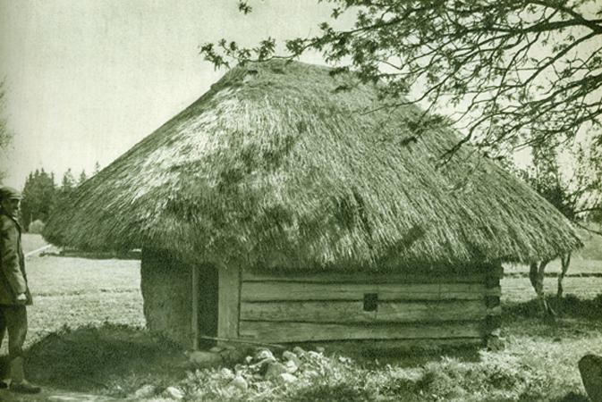 Pirtis. Žemaitija. XX a. Lietuvių liaudies menas. Architektūra I knyga. 558