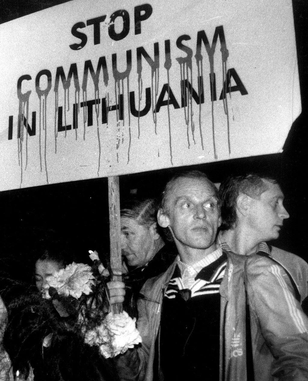 Algimantas Andreika 1989 m. rupjūčio 28 d. demonstracijoje | wikipedia.org, T. Kapočiaus nuotr.