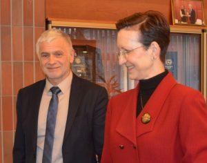 Bronius Makauskas ir Vokietijos ambasadore Jutta Schmitz