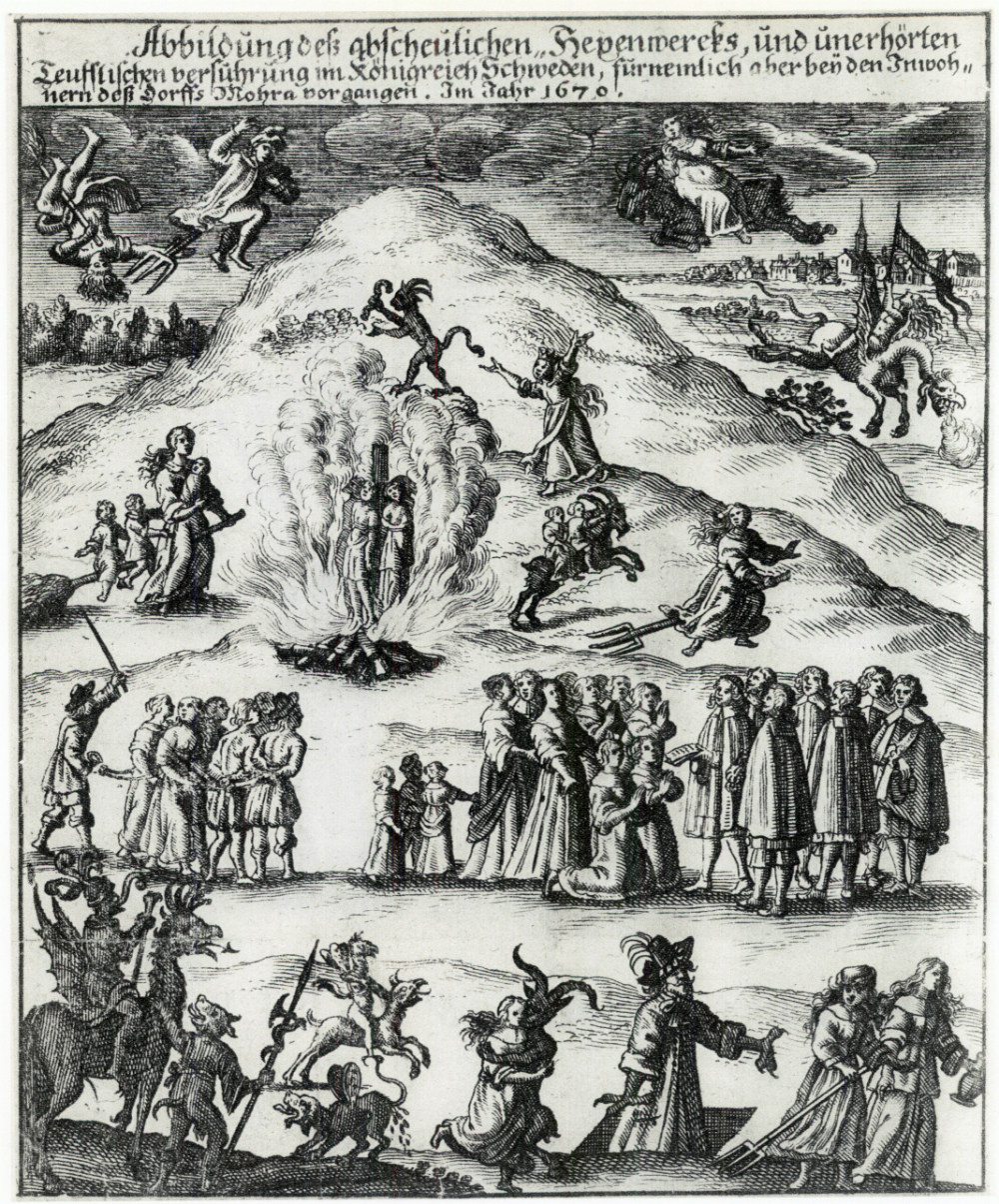 Raganų teismai Moroje, Švedija, 1670 m. | wikipedia.org nuotr.