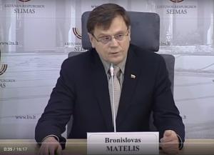 Bronislovas Matelis | sustabdyta vaizdo įrašo akimirka