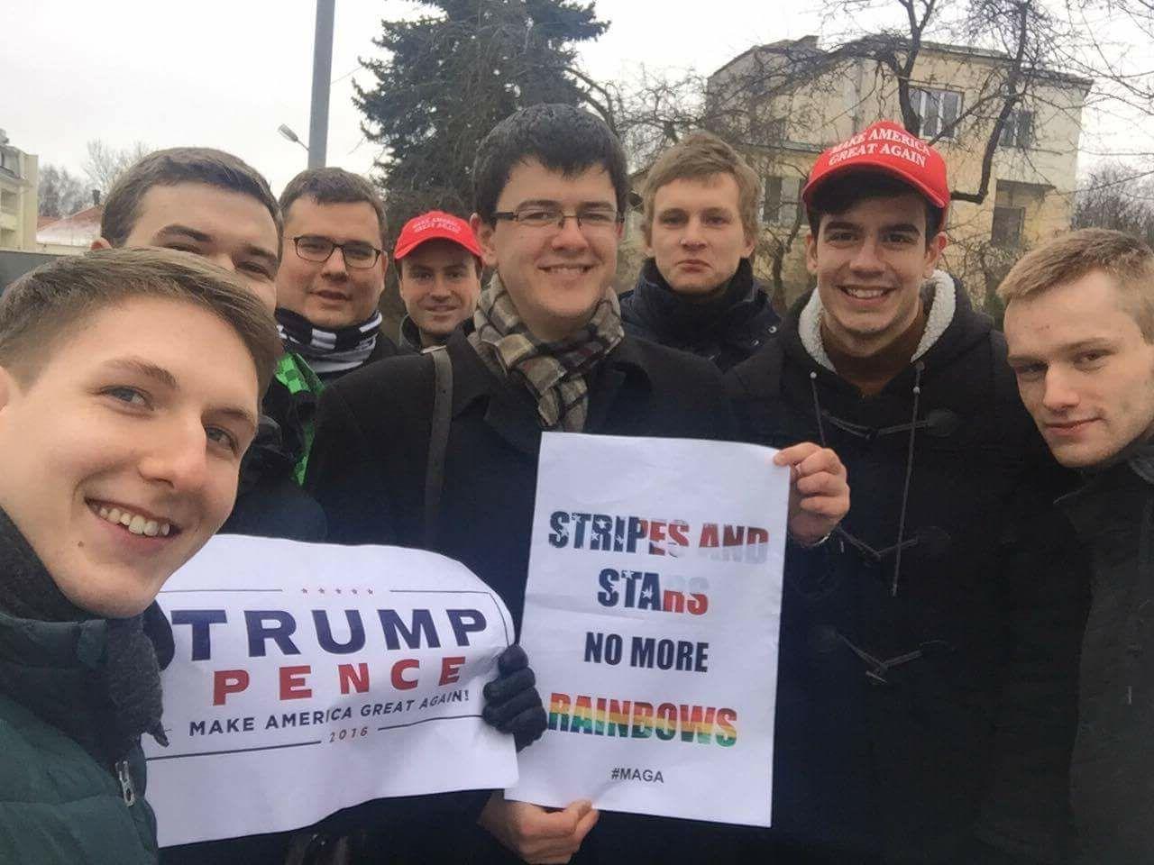 Prie JAV ambasados Vilniuje įvyko D. Trampo palaikymo akcija | rengėjų nuotr.